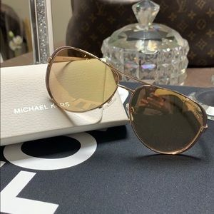 Michael Kors Chelsea Aviator Sunglasses Rose Gold